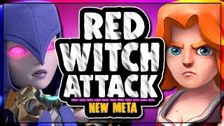 RED WITCH ATTACK STRATEGY OWNING TH9 | NEW META ATTACKS | Clash of Clans