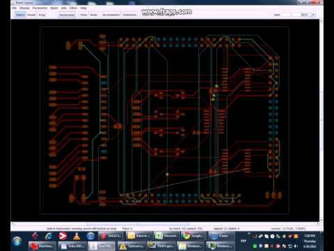 PCB autorouter in action - YouTube