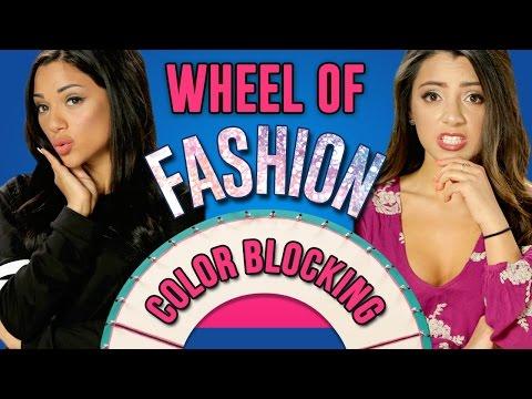 Colorblocking Challenge!   Wheel Of Fashion w/ Niki And Gabi
