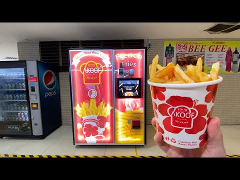 The Ace & TJ Show - French Fry Vending Machine is Magical!