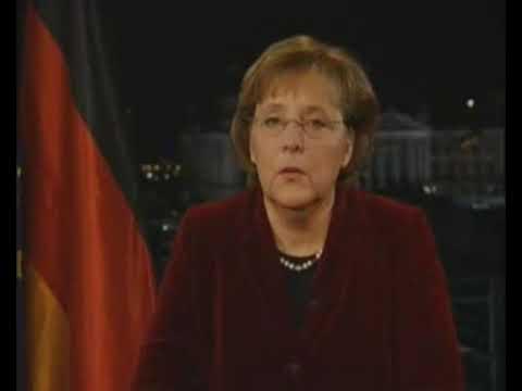 Angela Merkel singt...