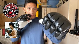 Shihan Sports BRUCE LEE Bong Sau Kenpo Gloves REVIEW- THE ORIGINAL MMA GLOVE