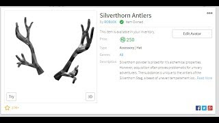 Roblox Frozen Antlers Of Everfrost Roblox Silver Thorn Antlers Are Out Youtube