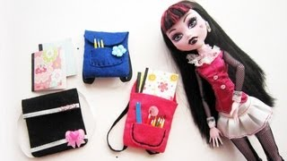diy miniature backpack monster high barbie