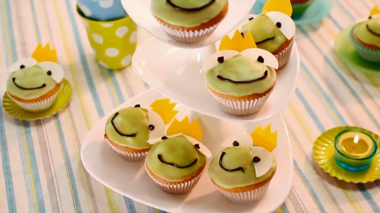 Rezept zitronen froschk nige von dr oetker youtube - Dekoration muffins ...