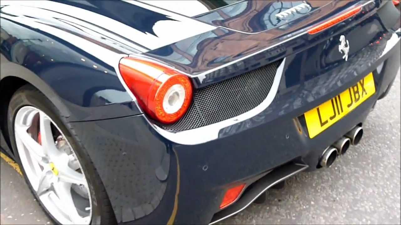 Navy Blue Ferrari 458 Walkaround - YouTube