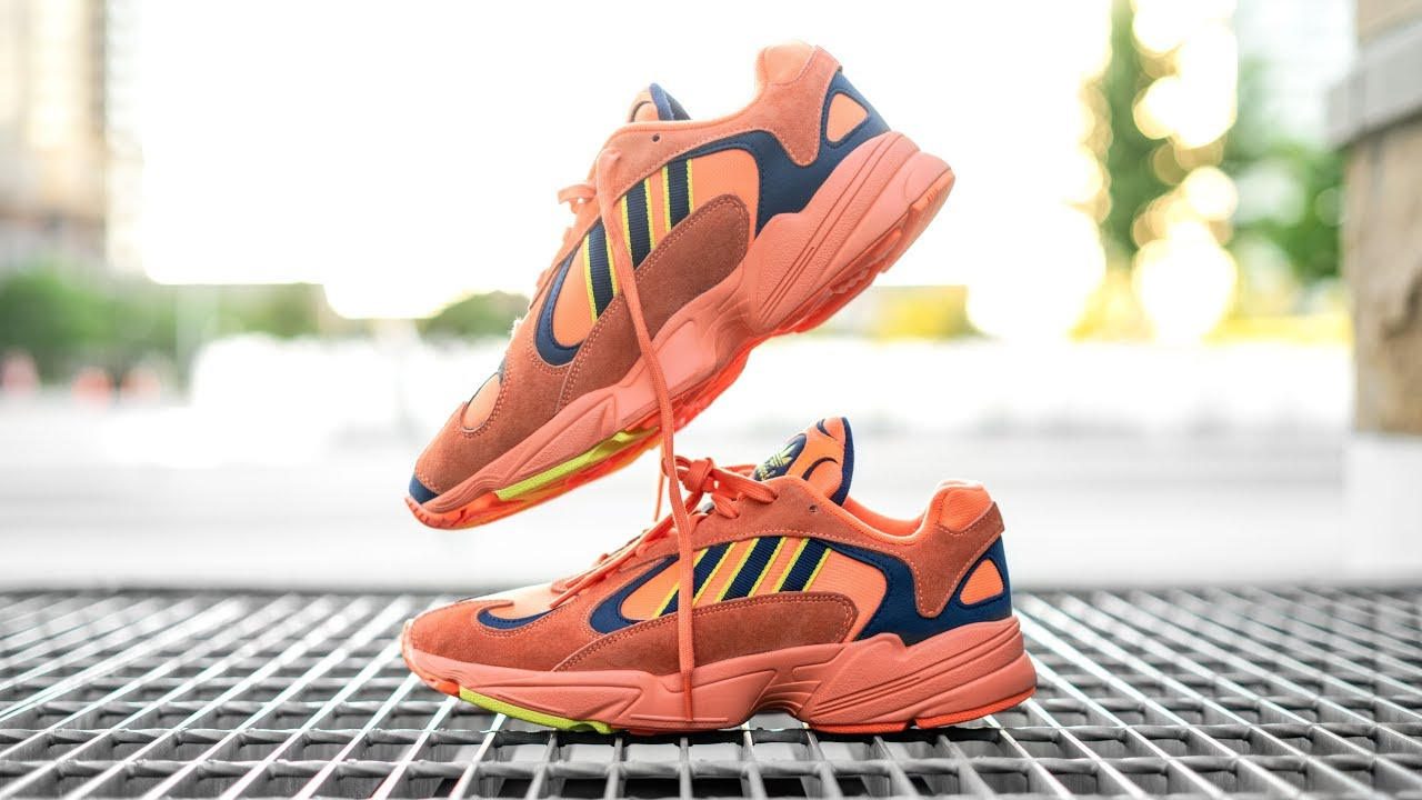 d9984c963af00 Why the YUNG 1 is Adidas New Shoe of the YEAR! | YUNG 1 HI RES ORANGE ON  FOOT REVIEW
