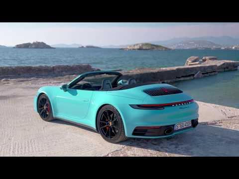 2020 Porsche 911 Carrera S Cabriolet in stunning Miami Blue – Official video