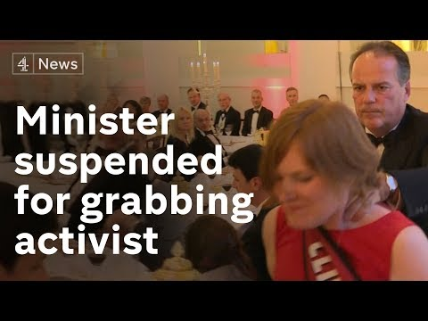 Mark Field suspended as minister after grabbing protester
