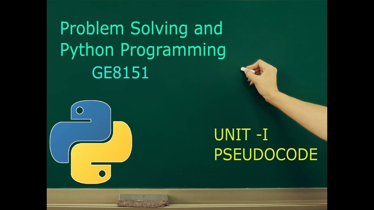 Pseudocode Introduction | Tamil | Problem Solving and ...
