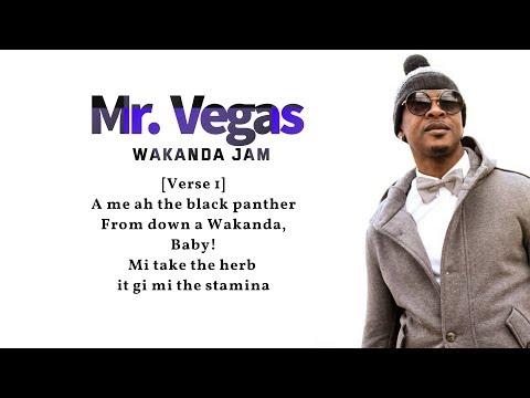 "Mr. Vegas - Wakanda Jam (Lyrics Video) 🎵"""