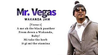 Mr. Vegas - Wakanda Jam Lyrics (Lyric Video)