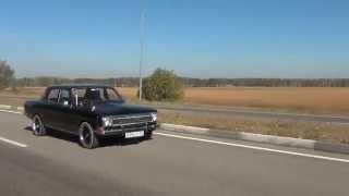 газ 24 v8 выхлоп exhaust