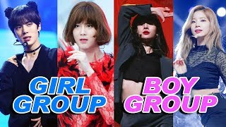 Boy Groups and Girl Groups Change Songs KPop Duality
