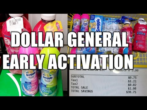 DOLLAR GENERAL EARLY ACTIVATION  CHEAP SNUGGLE PRODUCTS