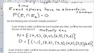 MDM 4 C Types of Events   Mutually Exclusive