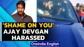 Ajay Devgan's car blocked by farmers' supporter outside Filmcity: Watch | Oneindia News