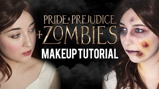 """Pride + Prejudice + ZOMBIES"" MAKEUP TRANSFORMATION"