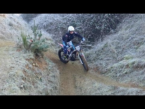 FROZEN TRIAL AT ABANDONED MOTOCROSS TRACK ON GAS GAS RAGA