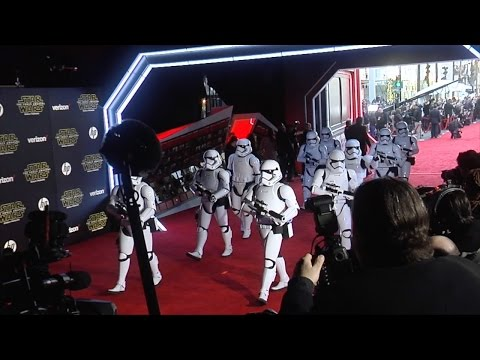 """Stormtroopers """"Star Wars The Force Awakens"""" World Premiere"""