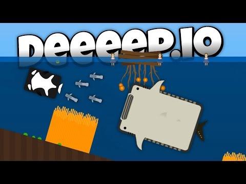 The Crazy New Manta Ray Lets Play Deeeep Io Gameplay