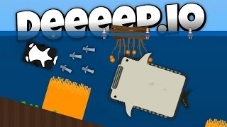 Deeeep.io - Missile Launching Whale Shark! - New Animals! - Lets Play Deeeep.io Gameplay