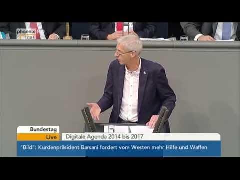 Bundestag: Debatte zur Digitale Agenda mit Alexander Dobrindt vom 16.10.2014