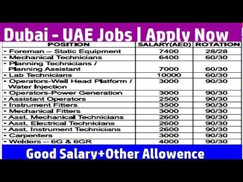 Dubai Abu Dhabi - UAE Jobs | Oil & Gas Jobs | Good Salary | Apply now
