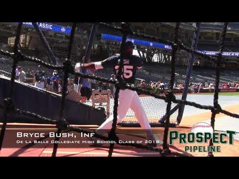 Bryce Bush Prospect Video, Inf, De La Salle Collegiate High School Class of 2018