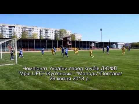 "Game of the Championship of Ukraine FC ""Mriya UFC"" Kupyansk - ""Molody"" Poltava"