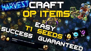 Insanely Easy OP Item Crafting with Tier 1 Seeds Only - Simple Path of Exile Harvest Crafting 101