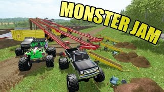 MONSTER JAM CONSTRUCTION | CREATING THE BEST TRACK | GRAVE DIGGER | CUMMINS