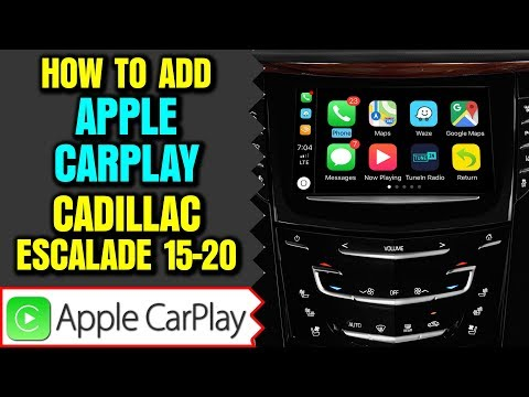 Cadillac Escalade Apple CarPlay - Add Apple CarPlay Android Auto to Cadillac Escalade HDMI DVD Input