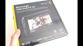 "BLACKMAGIC DESIGN VIDEO ASSIST 5"" 3G Unboxing"