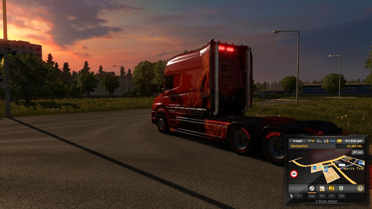 ets2 291 truck duck show mhapro map town exeter uk