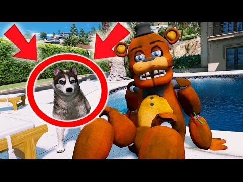 WITHERED FREDDY GETS HIS FIRST PET DOG! (GTA 5 Mods For Kids FNAF Funny Moments)