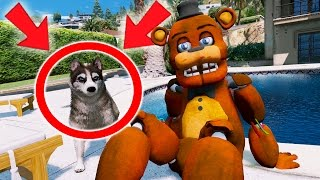 withered freddy gets his first pet dog gta 5 mods for kids fnaf funny moments