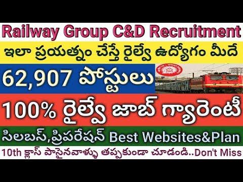 Railway Group C&D 62,907 Posts Recruitment Syllabus, Best Websites, Preparation Plan | Job Search