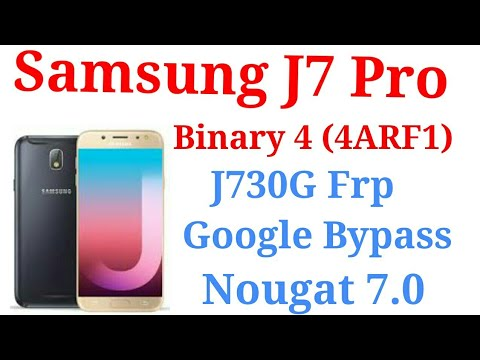 Samsung J7 Pro J730G frp bypass Bit/Binary 4 (4ARF1)easy solution without  computer and box by Mobile Techno Guru