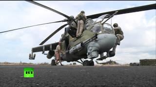 Российские вертолеты в Сирии(Россия продолжает военную операцию против боевиков ИГ в Сирии. В состав авиационной группы Воздушно-космич..., 2015-10-06T14:35:24.000Z)