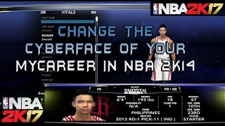 2K : How to change the cyberface of your NBA 2K14 MyCareer (TAGALOG)