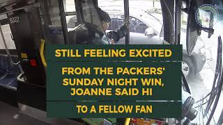 Milwaukee Bus Driver Celebrates Packers Win Over the Bears