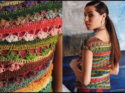 21 Ballet Neck Tee Vogue Knitting Crochet 2014 Youtube