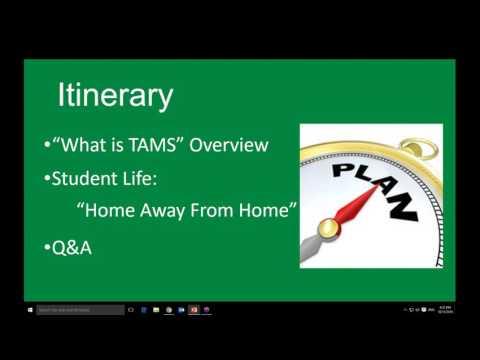 TAMS Webinar: Student Life