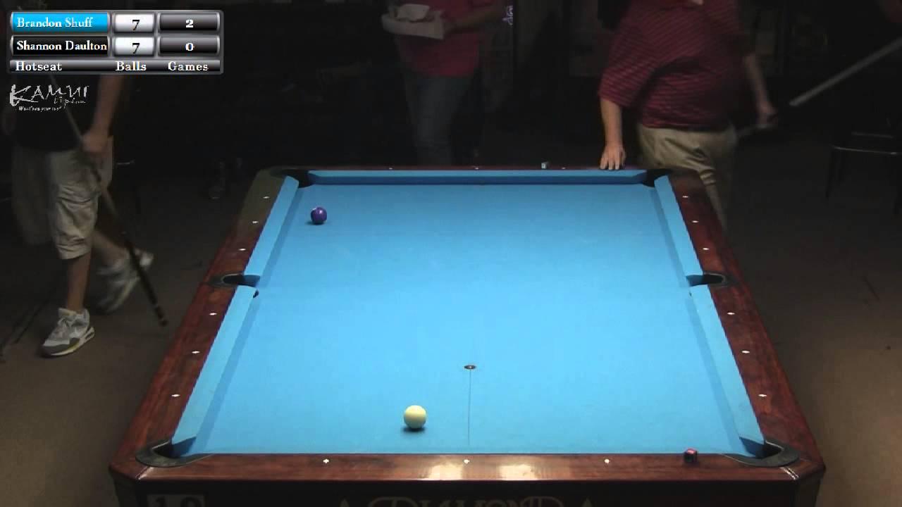 PShannon Daulton V Brandon Shuff Grady Mathews Hotseat Match - Grady pool table