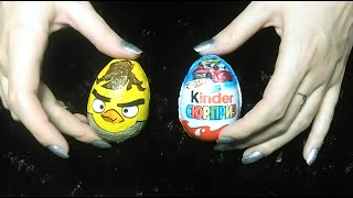 АСМР (ASMR) Киндер-сюрприз-2 (Kinder Сюрприз + Angry birds)