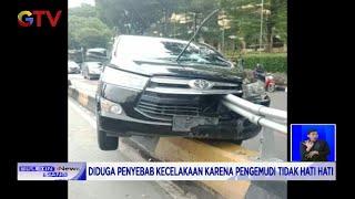 WASPADA! Sebuah Mobil Tertusuk Besi Pembatas Jalan di Setiabudi, Jakarta Selatan - BIS 04/01