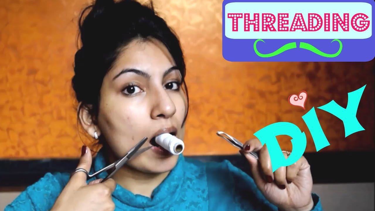 Diy threading tutorial diy threading at home remove facial hair youtube premium solutioingenieria Image collections