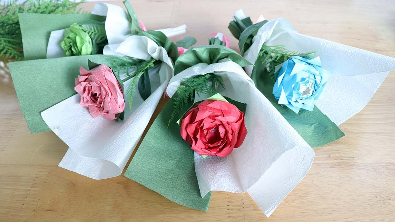 Gấp hoa hồng giấy origami tặng mẹ ngày 8/3