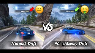 Need For Speed: No Limits | Farming Cash One-On-One: Normal Drift Vs 90° Sideways Drift